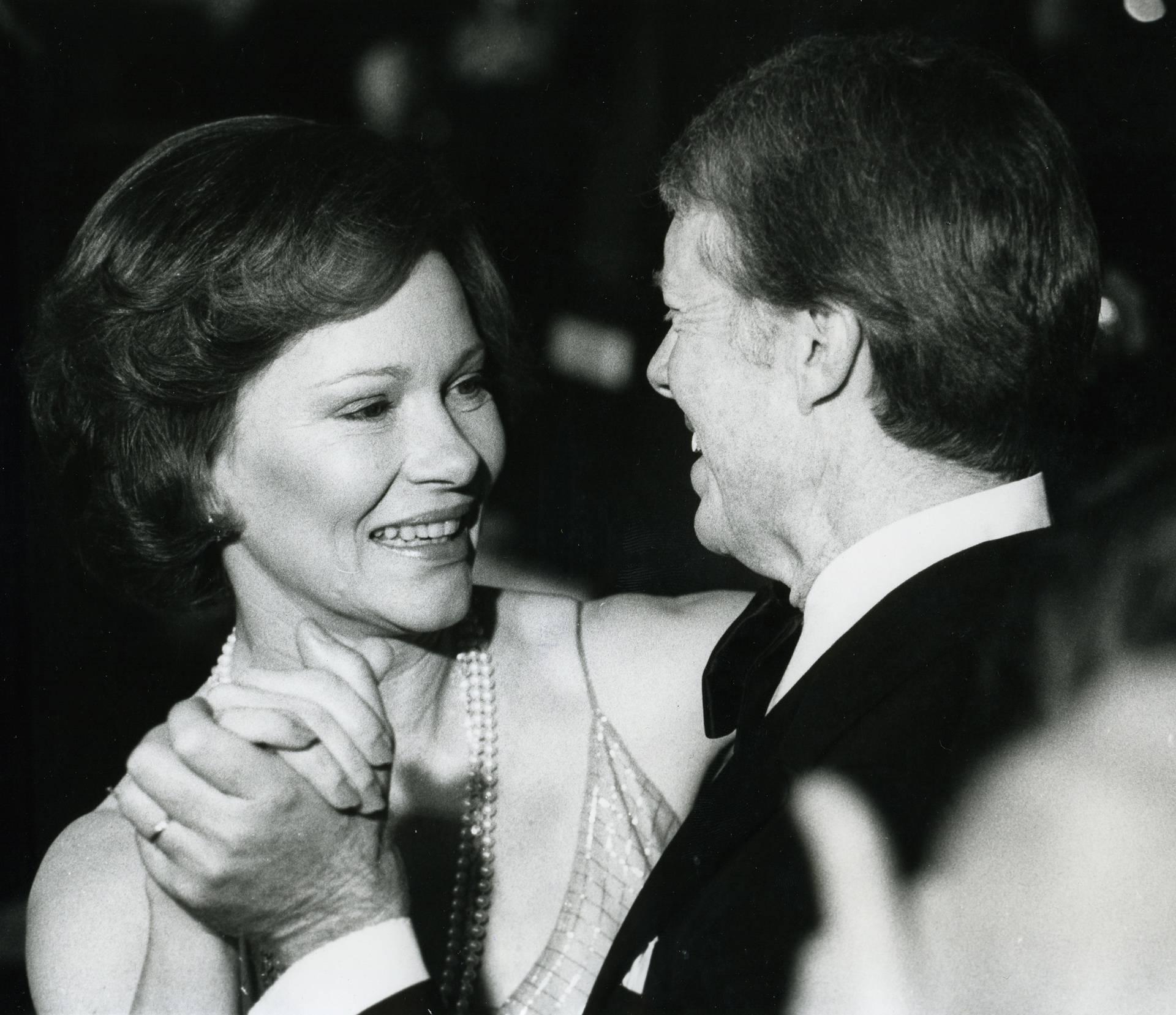 Jimmy und Rosalynn Carter beim Tanz / Foto