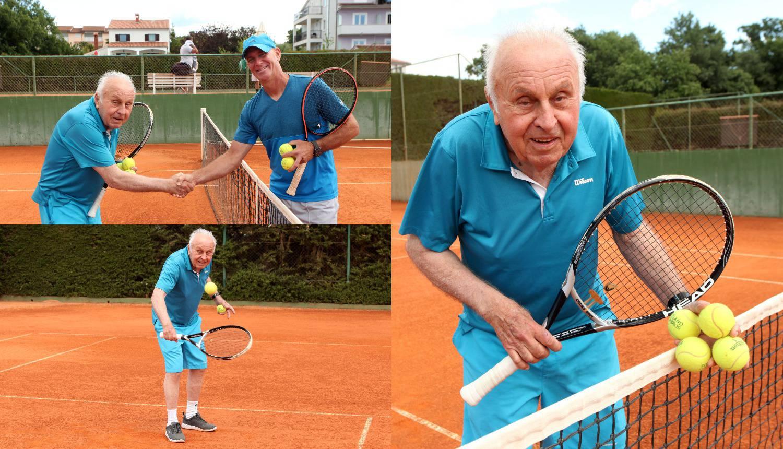 Kamilo Keretić (87) još i danas obožava zaigrati tenis: 'To me raduje kao kad sam imao 14'