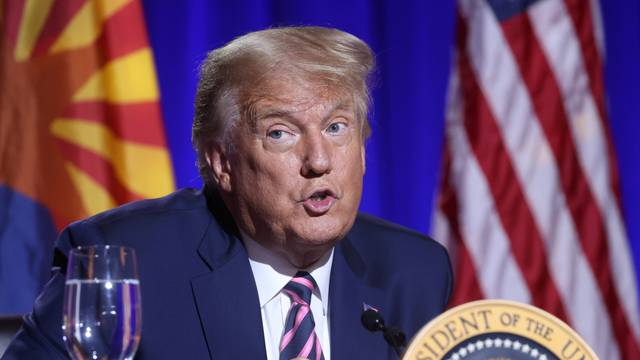 U.S. President Donald Trump in Phoenix