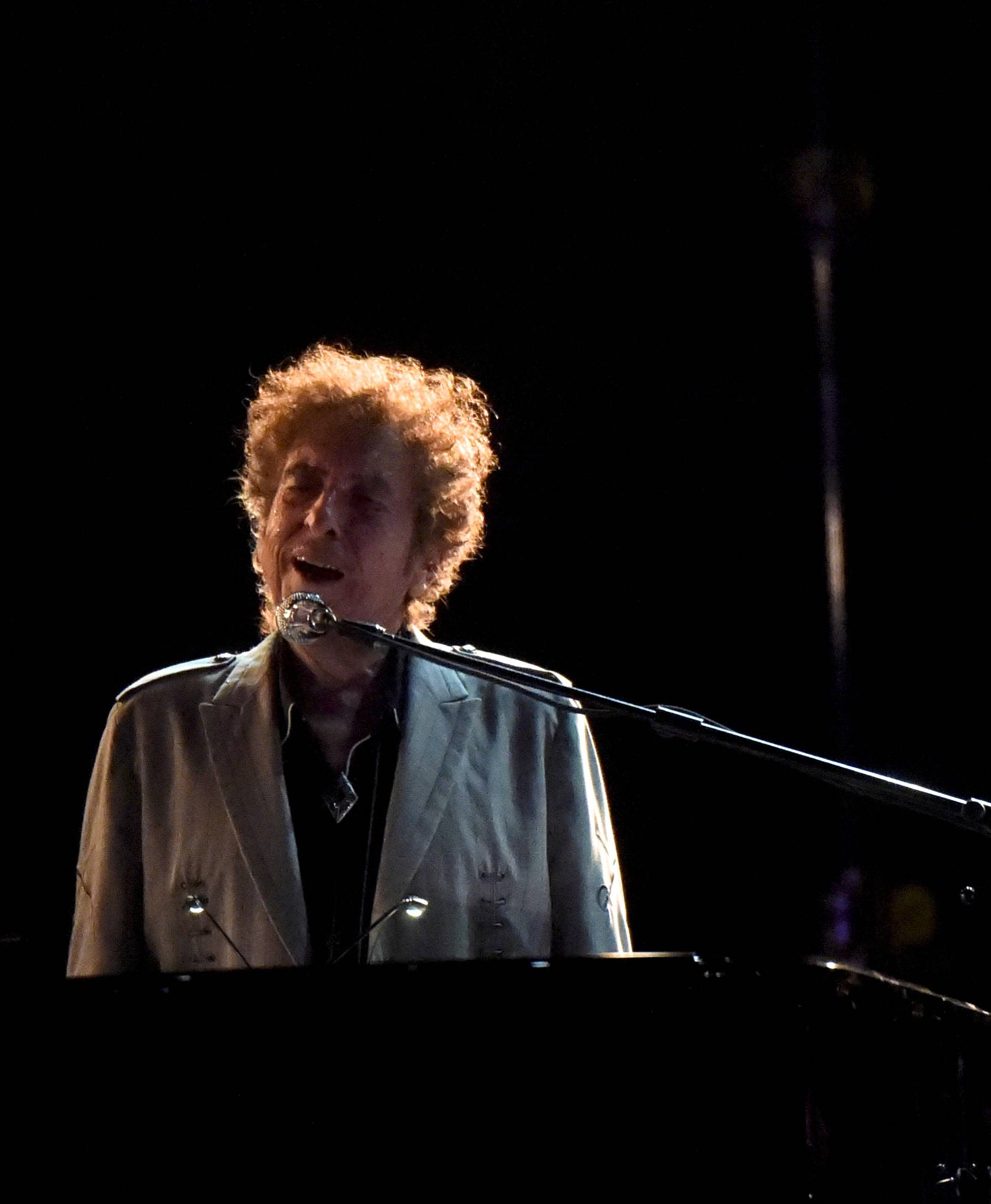 FILE PHOTO: Bob Dylan performs during the Firefly Music Festival in Dover, Delaware