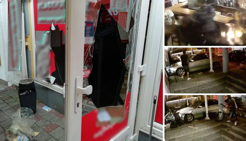 Demolirali su kafić: Autom se zabijali u stolove i stakleni zid