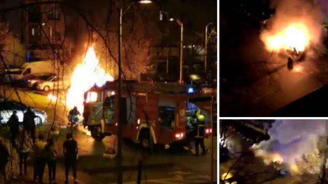 U Španskom gorio auto: 'Čula se eksplozija, izletjeli smo vani i vidjeli kako je sve u plamenu'