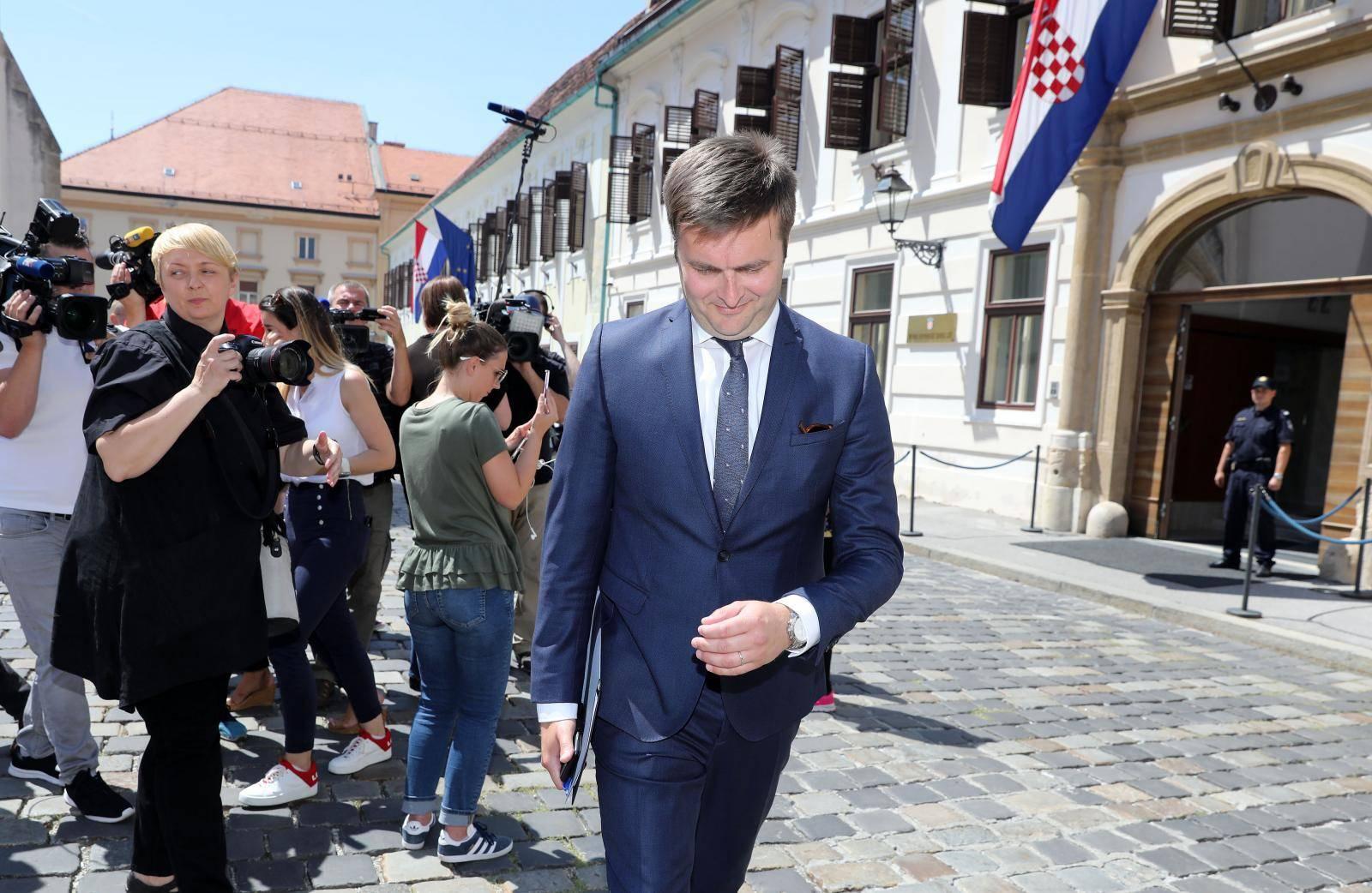 Zagreb: Odlazak ministara nakon sjednice Užeg kabineta Vlade RH