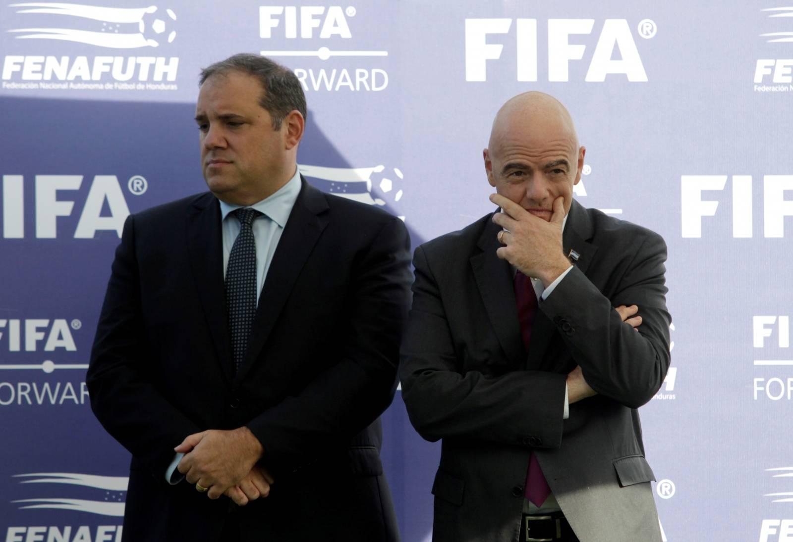 FILE PHOTO: FIFA President Gianni Infantino visits Honduras