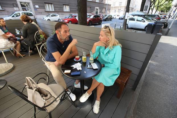 Zagreb: Nataša Novaković i Dražen Jelinić popili piće u kafiću