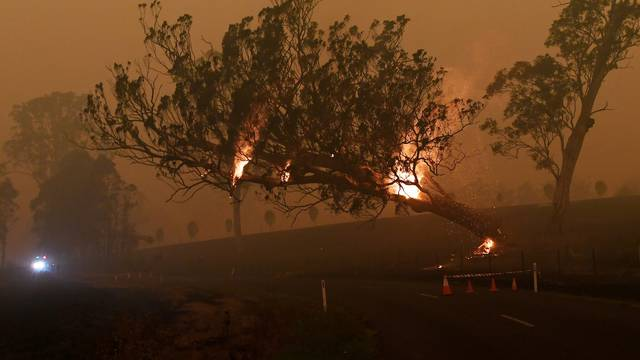 FILE PHOTO: Bushfires in New South Wales