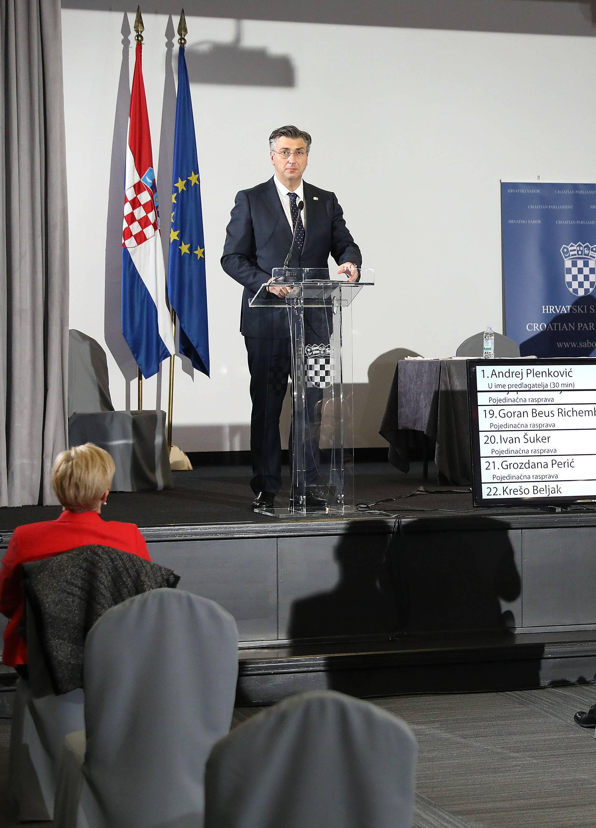 Zagreb: Sabor sjednicu nastavio raspravom o Vladinom paketu prijedloga zakona s područja financija i turizma