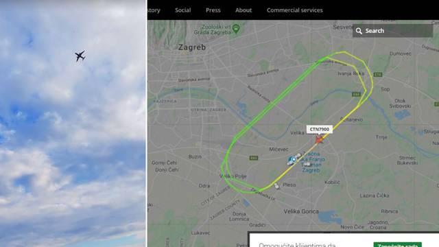 Uznemireni Zagrepčani: 'Avion već pet puta kruži jako nisko'