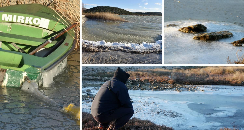 Bura i hladnoća zaledile more kod Tisnog, ali i Vransko jezero