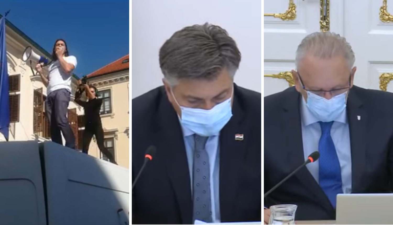 Plenković zadužio Božinovića da osigura Markov trg: Kombi se zaletio neprimjerenom brzinom