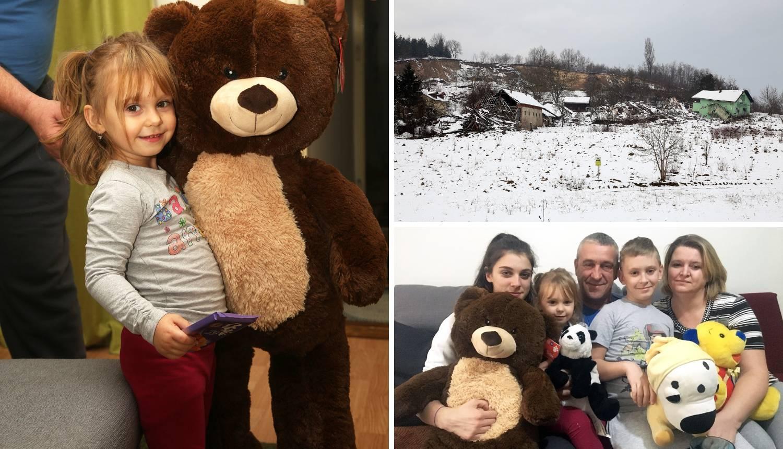 Alisu (3) čuva medo: Ostala je bez kuće u odronu u Kostajnici