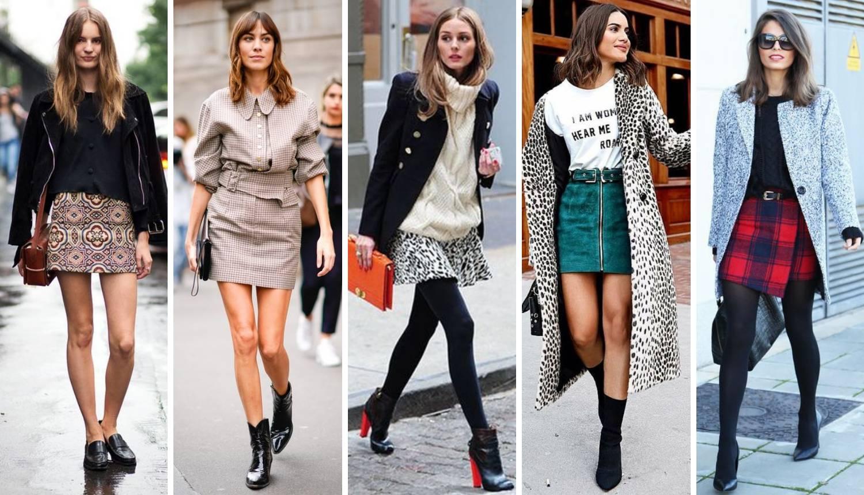 Top 20 ideja kako nositi minicu u hladnijim jesenskim danima