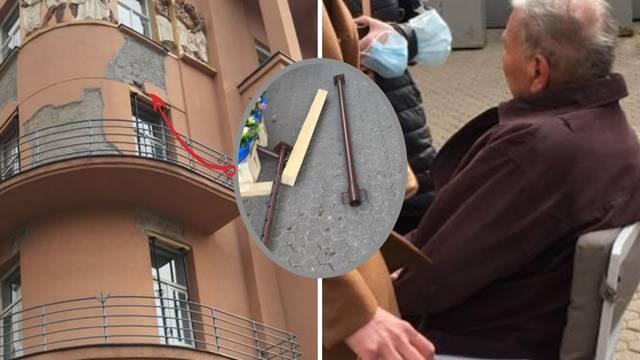 U Zagrebu na čovjeka pao dio konstrukcije, teže je ozlijeđen: 'Sreća da mu nije palo na glavu'