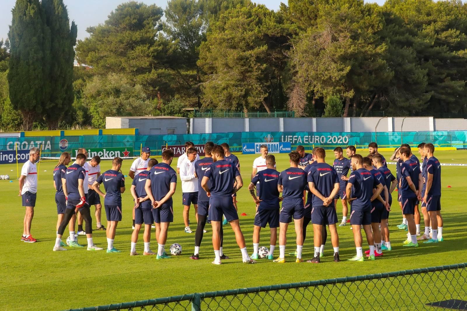 Rovinj: Trening hrvatske nogometne reprezentacije