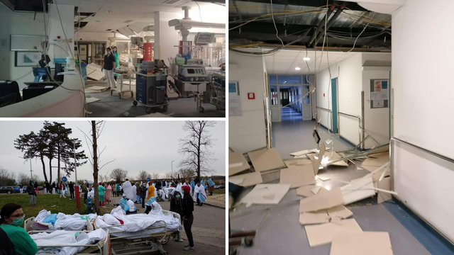 Potresne slike iz bolnica: Šok na Rebru, pacijenti na cesti...