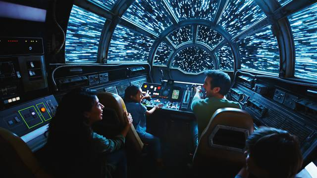 Star Wars Galaxy's Edge Millennium Falcon Smugglers Run exhibit