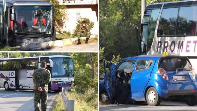 Nesreća kod Klisa: Prešla je u suprotan trak i udarila u bus