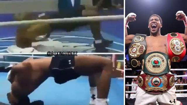 Auč! Joshua trenira nezgodnu vježbu za vrat kao Mike Tyson