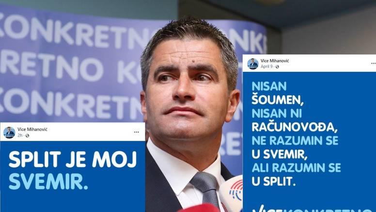 Mihanović zbunio Splićane: 'Ne razumin se u svemir. Split je moj svemir.' Javio mu se i Puljak