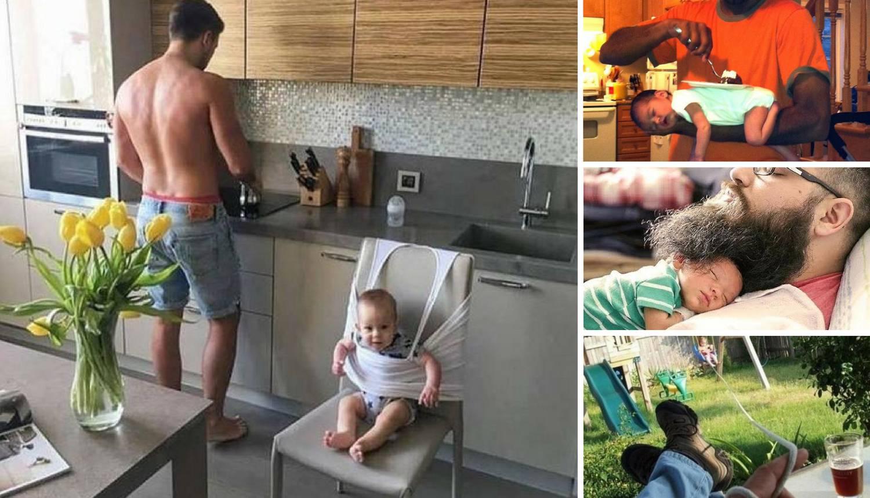 Evo kako se neki očevi snalaze dok čuvaju djecu - presmiješno