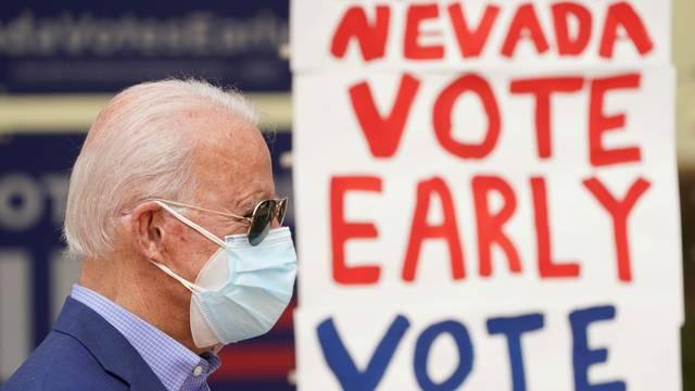Democratic U.S. presidential nominee Biden campaigns in Las Vegas, Nevada