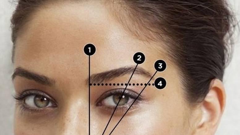 Savršene obrve postižu se uz pravilo trojstva ili zlatnog reza