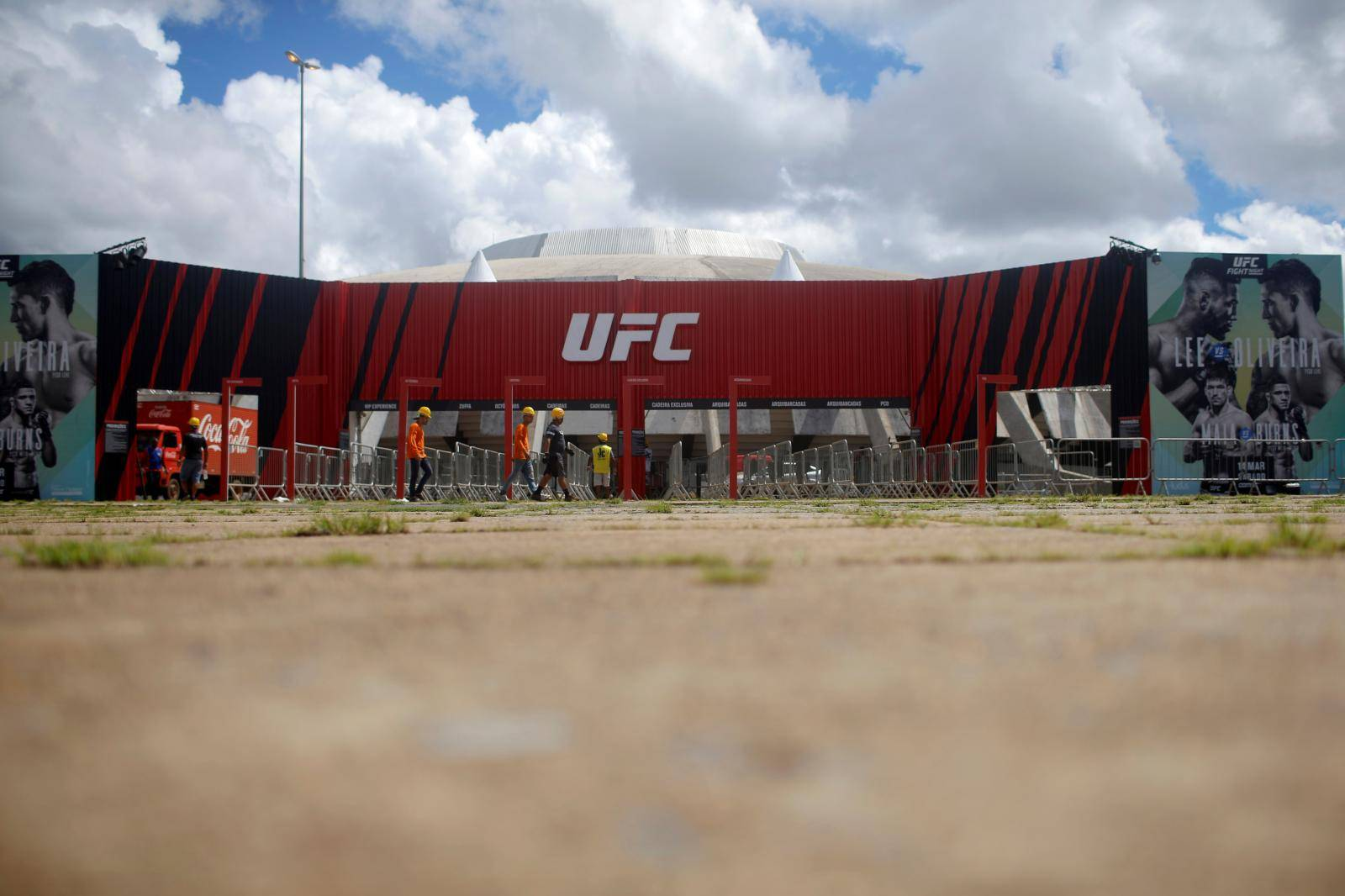 A general view of the Nilson Nelson Gymnasium as the next UFC Fight Night will be held without fans during the fights, after reports of the coronavirus in Brasilia