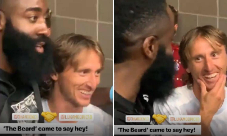Luka u zagrljaju NBA zvijezde: Ma vi ste najbolji na svijetu...