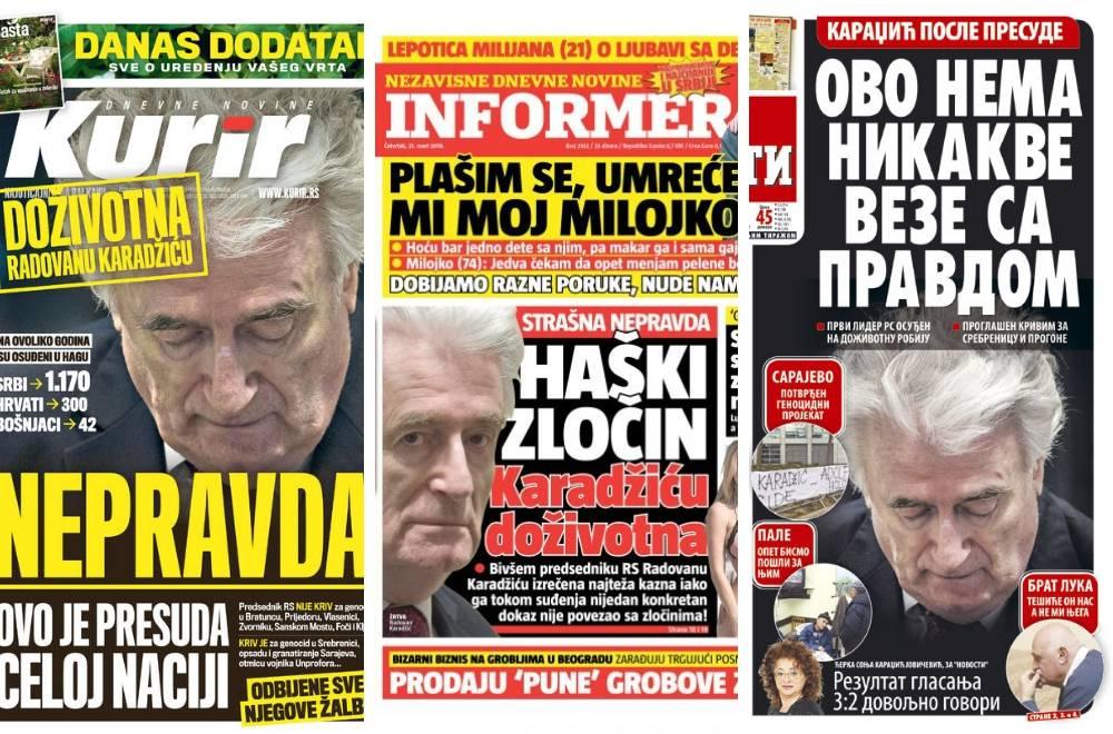 'Presuda Karadžiću je zločin, osudili su cijeli srpski narod...'