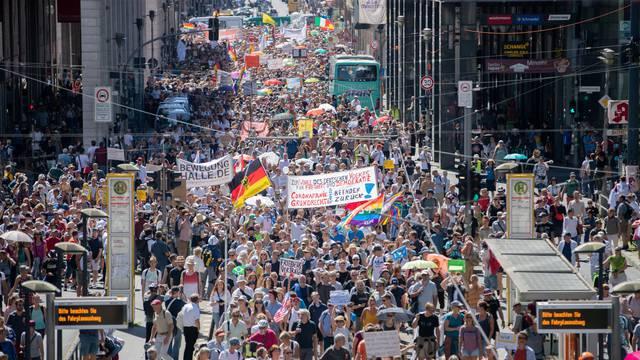 Demonstration against corona measures in Berlin
