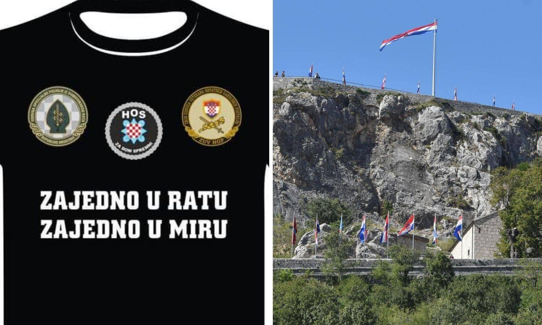 HOS-ovci u Knin idu u majicama na kojima je pozdrav zbog kojeg je Milanović otišao iz Okučana