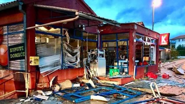 Raznijeli bankomat: Detonacija uništila gotovo cijelu trgovinu!