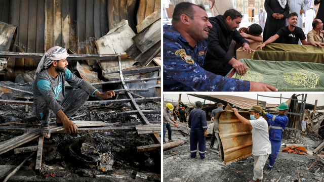 Požar u Iraku progutao covid odjel bolnice, poginulo 92 ljudi