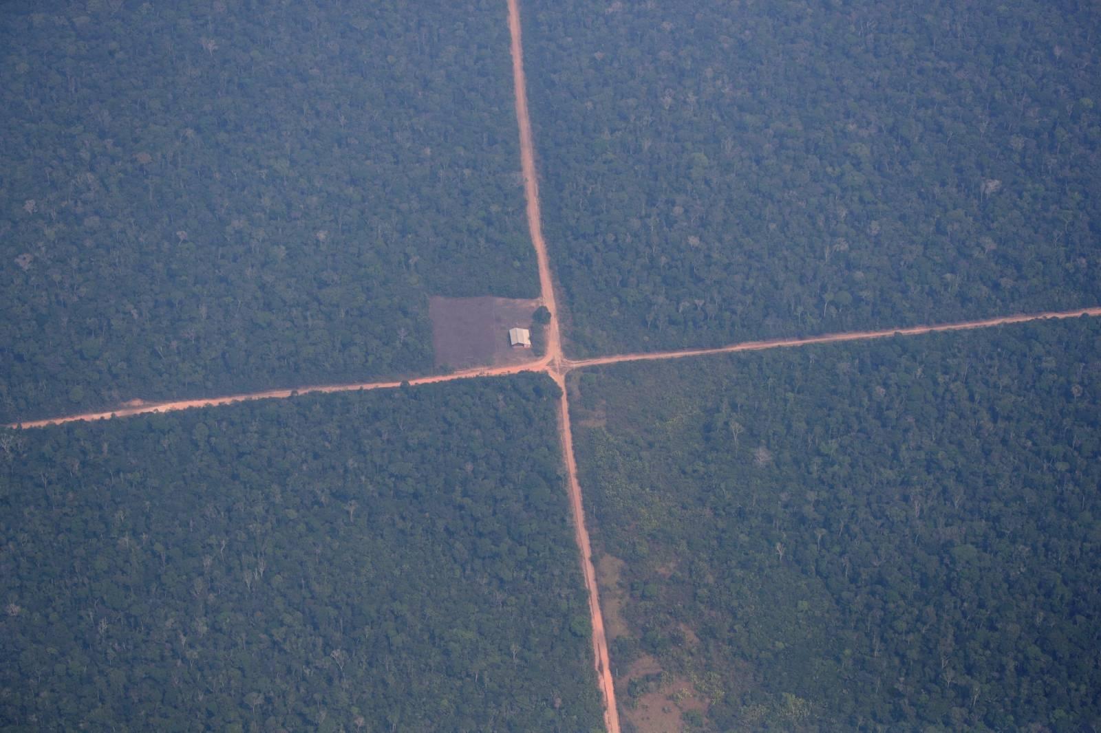 An aerial view of the Amazon near Humaita
