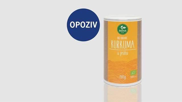 Iz prodaje povukli GreenLab eko kurkumu 150g zbog klor etanola