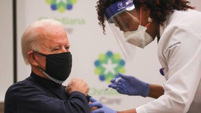 U.S. President-elect Joe Biden receives a dose of a COVID-19 vaccine at ChristianaCare Christiana Hospital in Newark