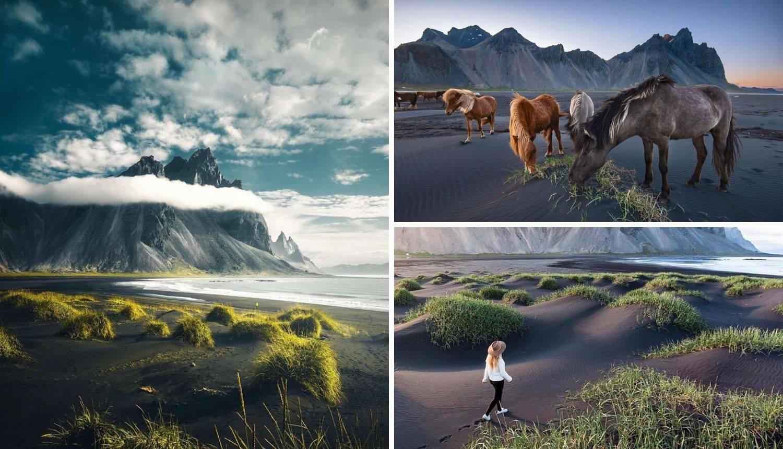 Crna pješčana plaža na Islandu i 'Batmanova planina' na njoj