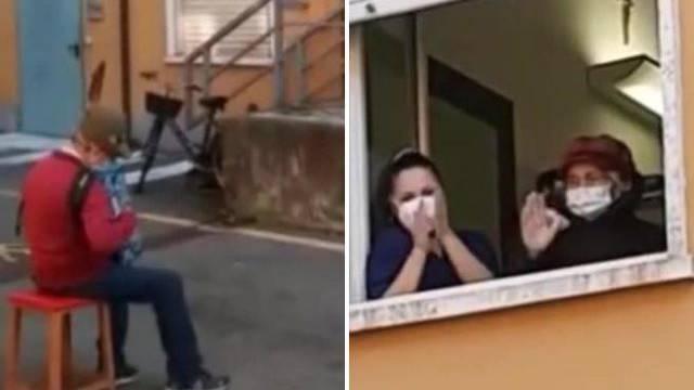 Talijan (81) nije mogao posjetiti ženu pa joj svirao pred bolnicom