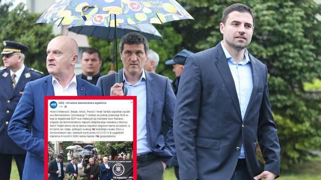 'Hoće li Milanović osuditi Beru, slikao se pored znaka HOS-a?'