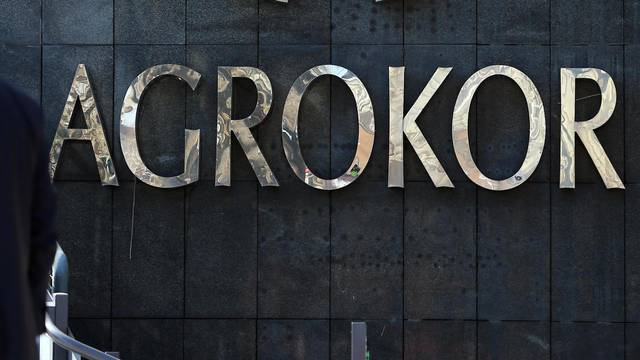 Agrokor logo is seen at the company's headquarters in Zagreb