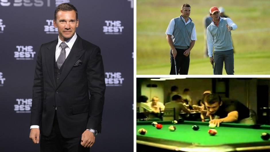 Andrij Ševčenko: Majstor golfa i biljara, tip koji mora pobijediti