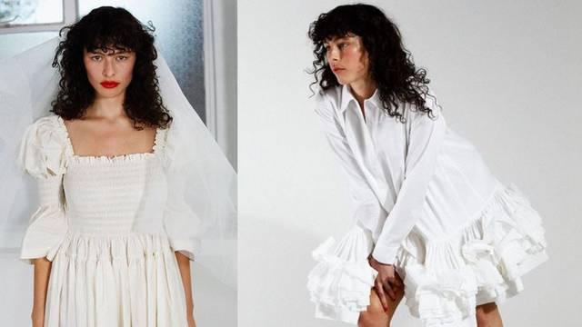 Dizajnerica Molly Goddard predstavila je drugačiju kolekciju dnevnih vjenčanica