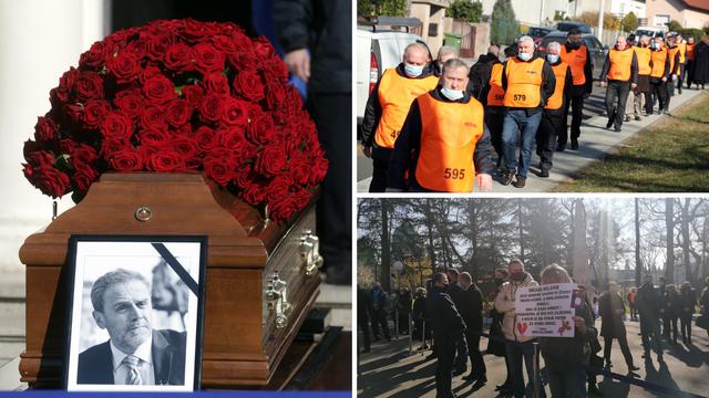 Sprovod Milana Bandića:  Na Mirogoju se skupilo već preko 200 građana. Iznijeli su lijes