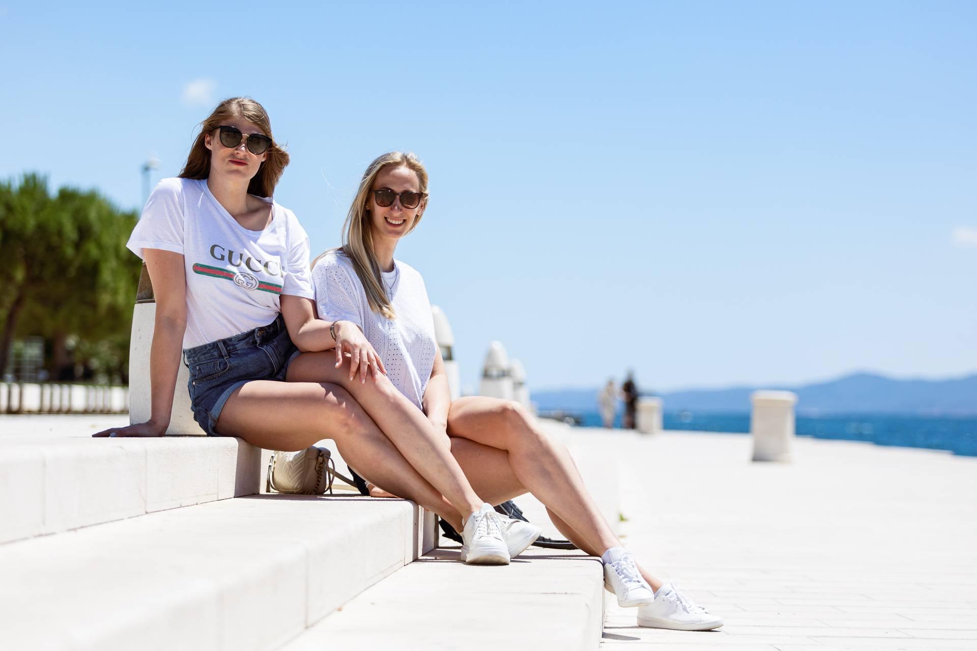 Hrvatske odbojkašice u šetnji Zadrom