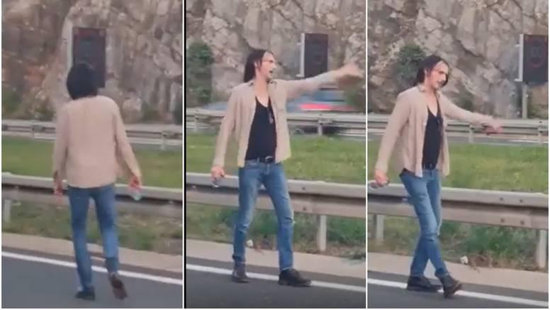 VIDEO Bare teturao autocestom, a snimka postala hit: 'Svatko bi izgubio živce, ali bio je trijezan'
