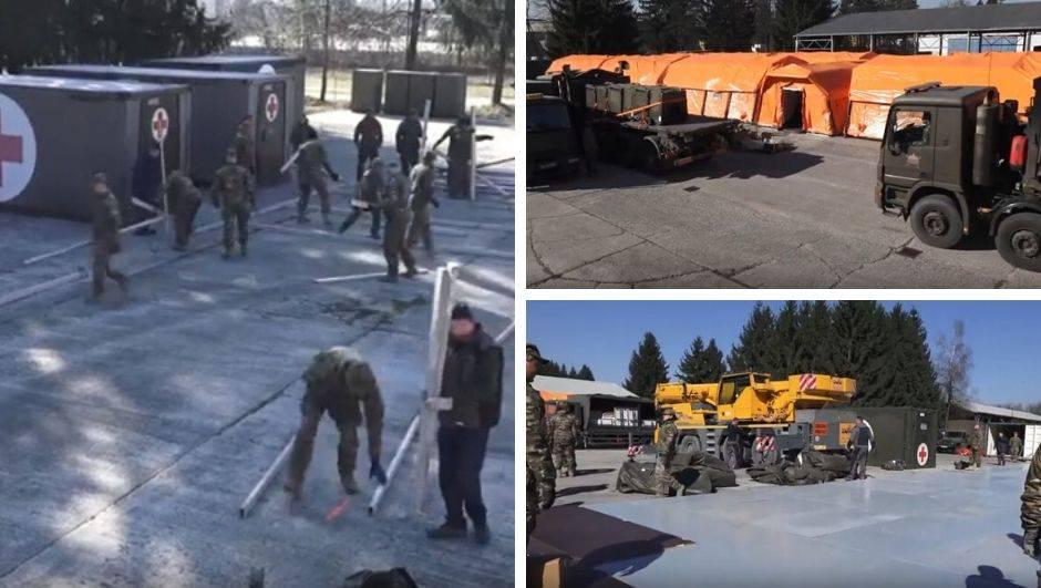 Slovenci dovršili vojnu bolnicu za oboljele od korona virusa