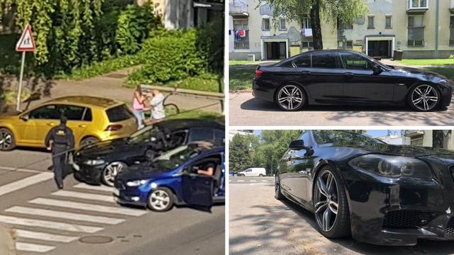 Auto osumnjičenog ima oznake Sindikata policije RH i HOS-a