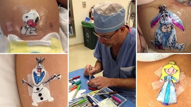 Oslikava zavoje mališana da ne bi bili u strahu nakon operacije