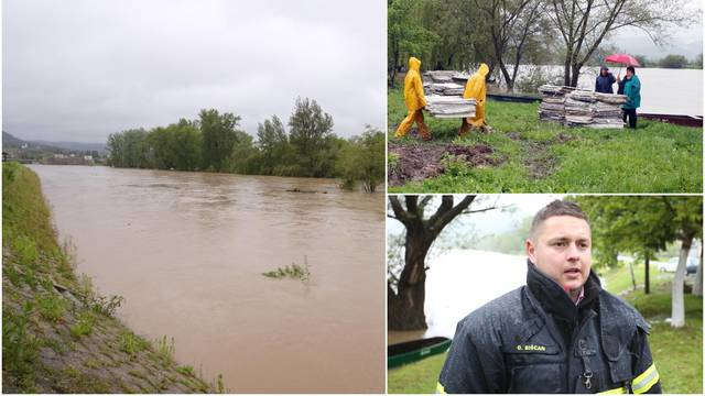 Hrvatska Kostajnica priprema se za poplavu, rijeka Una raste