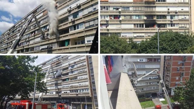 Požar u Zagrebu: Gorio stan na Krugama, sukljao je gust dim